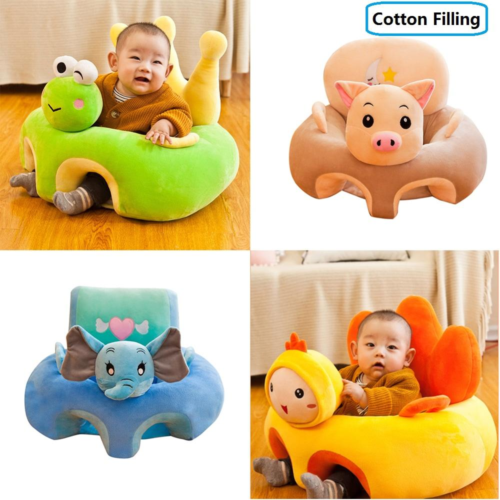 Baby Sofa Support Seat Cover Plush Chair Learning To Sit Comfortable Toddler Nest Puff Washable Cradle Sofa Chair Cotton Filling