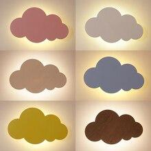 15 Вт Современные облачные настенные светильники, белые, розовые светодиодные Настенные светильники для гостиной, для девочек, для детей, для спальни, свет, украшение 110 В 220
