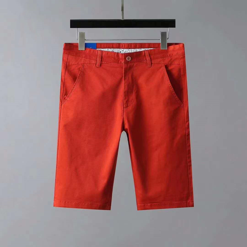 Men Summer Small Horse Casual 100% Shorts Streetwear Bottoms Male Homme Horme Solid Color Short Pants Plus Size Pant Style