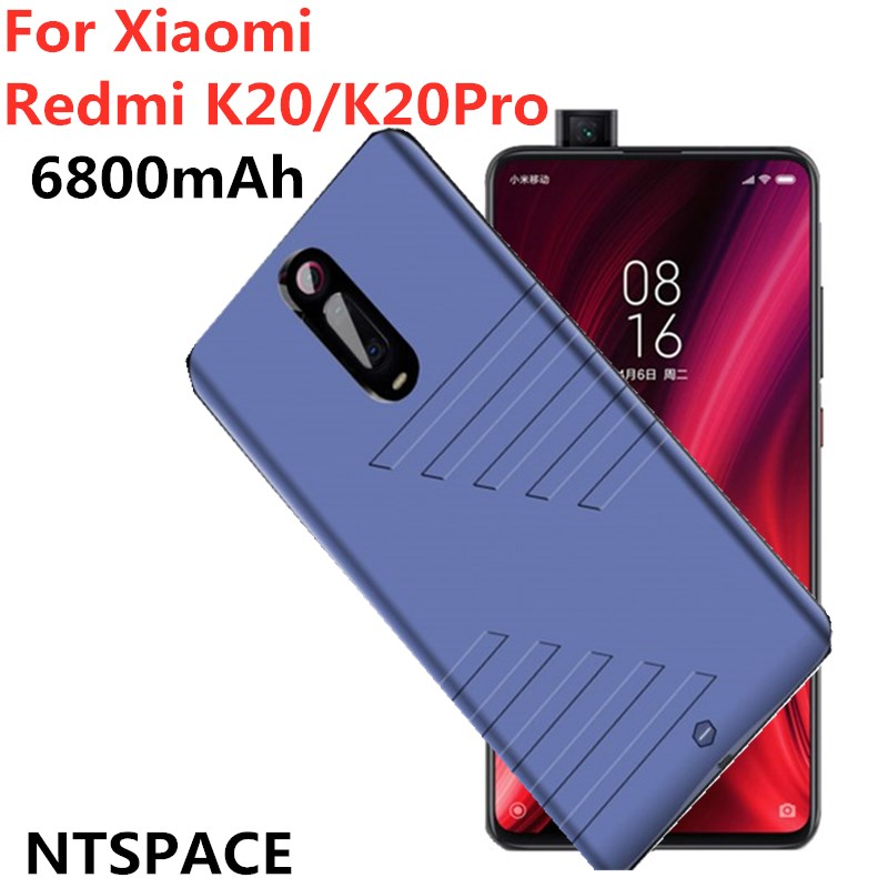 6800mAh Externe chargeur de batterie portable pour Redmi K20 Charge Cas Boîtier De Batterie Chargeur de Téléphone Pour Xiaomi Redmi K20 Pro Boîtier D'alimentation