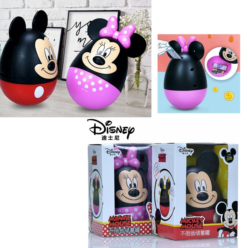 New Disney Mickey Minnie Piggy Bank Mickey Mouse Coin Box PVC Action Figure Toys For Children Gift Money Box