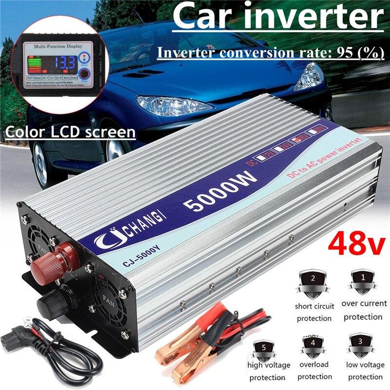 inversor do carro 12v 24v 48v 220v 5000w 10000w pico de onda senoidal modificada tensao transformador