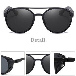 Image 4 - KEITHION BRAND Steampunk Polarized Sunglasses Women Men Retro Goggles Round Flip Up Glasses steam punk Vintage Fashion Eyewear