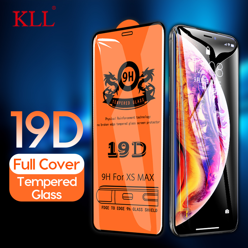 19D Curved Full Cover Tempered Glass For IPhone 7 8 6 6s Plus 9H Screen Protector Film For IPhone X XS Max XR Protective Glass