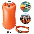 20 л плавающий буй рюкзак открытая Вода Морской Безопасности плавающий буй Флотация вспомогательное плавательное сухая сумка буксировочны...