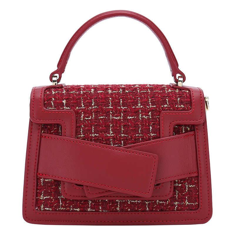 Женская сумка-мессенджер, маленькая шерстяная роскошная сумка через плечо, для зимы, 2020