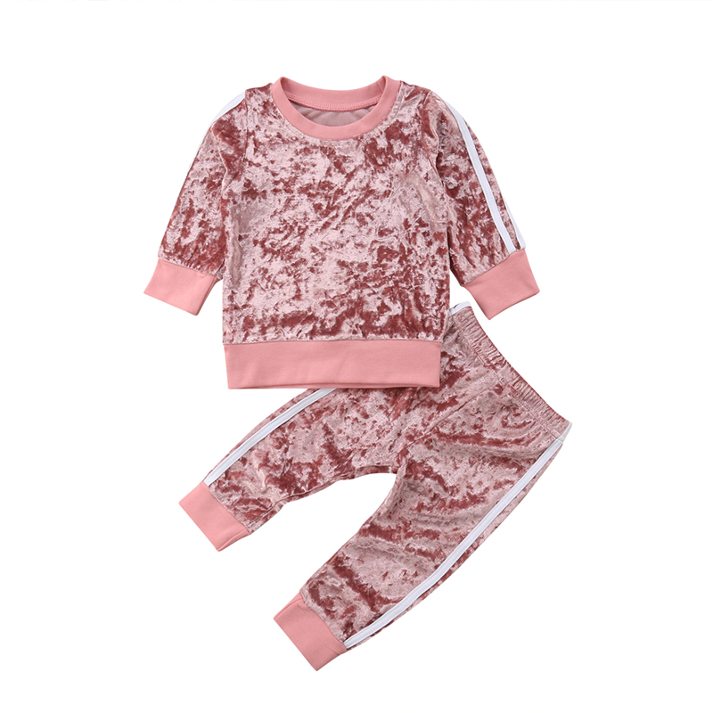 2019 Long Sleeve Winter Children Clothing Baby Girls T-shirt+Jeans Outfit Kids Clothes Girls Sport Suits For Girls Sets 2 5 Year