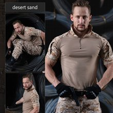 Chemise militaire tactique de Camouflage pour hommes, chemises de l'armée de soldat à manches courtes, uniforme Multicam, costume de grenouille, vêtements de Combat pour hommes