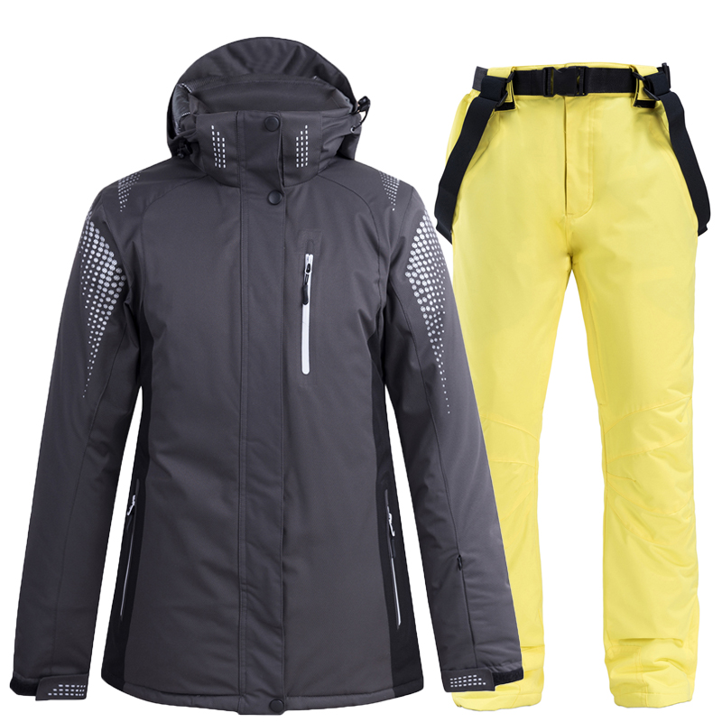 Winter Ski Suit Women Windproof Waterproof Outdoor Sports Ski Jacket And Pants Suit Sets Sports Jacke Trousers Snowboard Suits