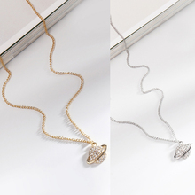 Fashion Trend  Planet Shape Necklace Simple Style High-end Elegant Women Clavicle
