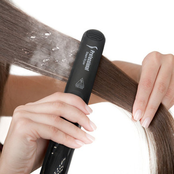 Professional Steam Hair Curler Straightener Argan Oil Treatment 450F Fast Heating Tourmaline Ceramic Iron Hair Care Styling Tool 6