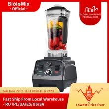 Licuadora eléctrica automática de 2200W con temporizador, exprimidor de alimentos de alto rendimiento, procesador de frutas, batidos de hielo, jarra de 2L, sin BPA, 3HP