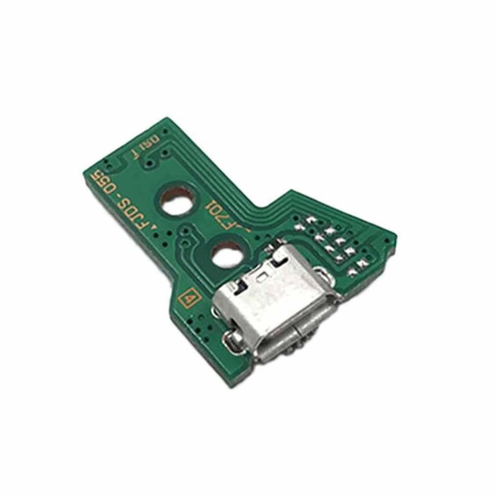 Dla SONY PS4 kontroler gniazdo portu USB do ładowania pokładzie JDS-055 uchwyt gniazdo ładowania rozdzielnica 12PIN moduł kablowy dla PS4