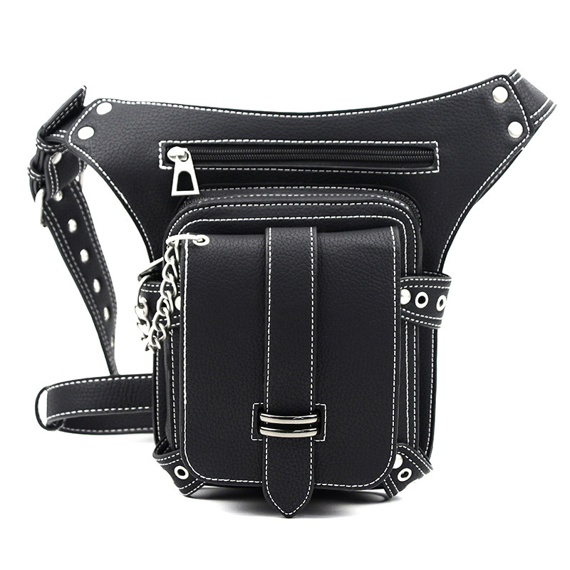 Women Vintage Steampunk Leg Bag Retro PU Leather Motorcycle Waist Bags Victorian Style Belt Fanny Pack Men Thigh Hip Bum Pockets