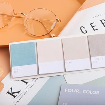 Mohamm koła czterech kolorów serii Kawaii śliczne kartki samoprzylepne notatnik pamiętnik papiernicze artykuły 80 sztuk tanie i dobre opinie CN (pochodzenie) dekoracja BLT226