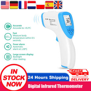 LCD Digital Infrared Thermometer Non-contact body thermometer Forehead Termometro Baby/Adult Temperature Measurement Meter