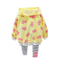 Осенний костюм для маленьких девочек толстовка с длинным рукавом