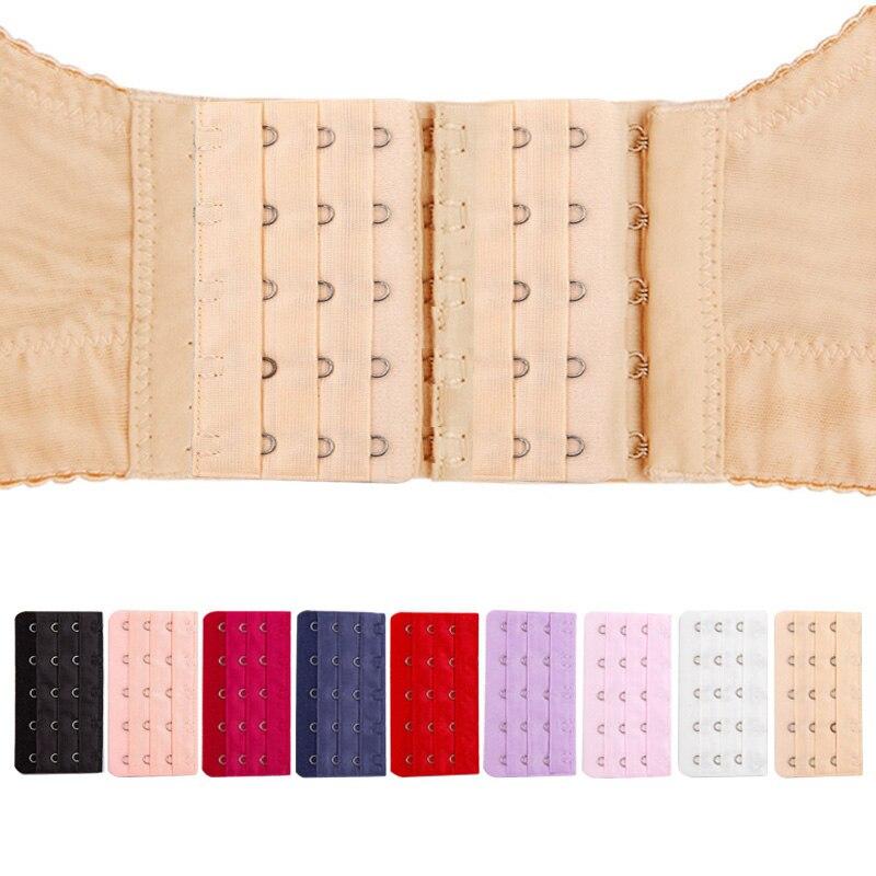 2 pçs gancho sutiã extensor elástico cinta de extensão do sutiã feminino ajustável fivela de cinto de substituição