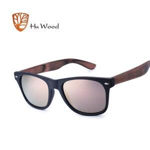 Image 3 - Hu wood 2018 디자인 남자/여자 클래식 레트로 리벳 편광 선글라스 100% 자외선 차단 대나무 태양 안경 grs8004