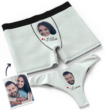 Underwear-Set Couple Face Your-Name Personalized-Property Valentines-Day-Gift Custom