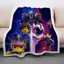 Batman Soft Warm Coral Fleece Blanket Winter Sheet Bedspread Superman Justice League Throw Light Mechanical Wash Flannel Blanket(China)