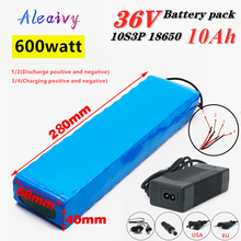 Aleaivy 36V 10Ah 600watt 10S3P lithium ion battery pack 20A BMS For xiaomi mijia m365 pro ebike bicycle scoot XT60 T plug