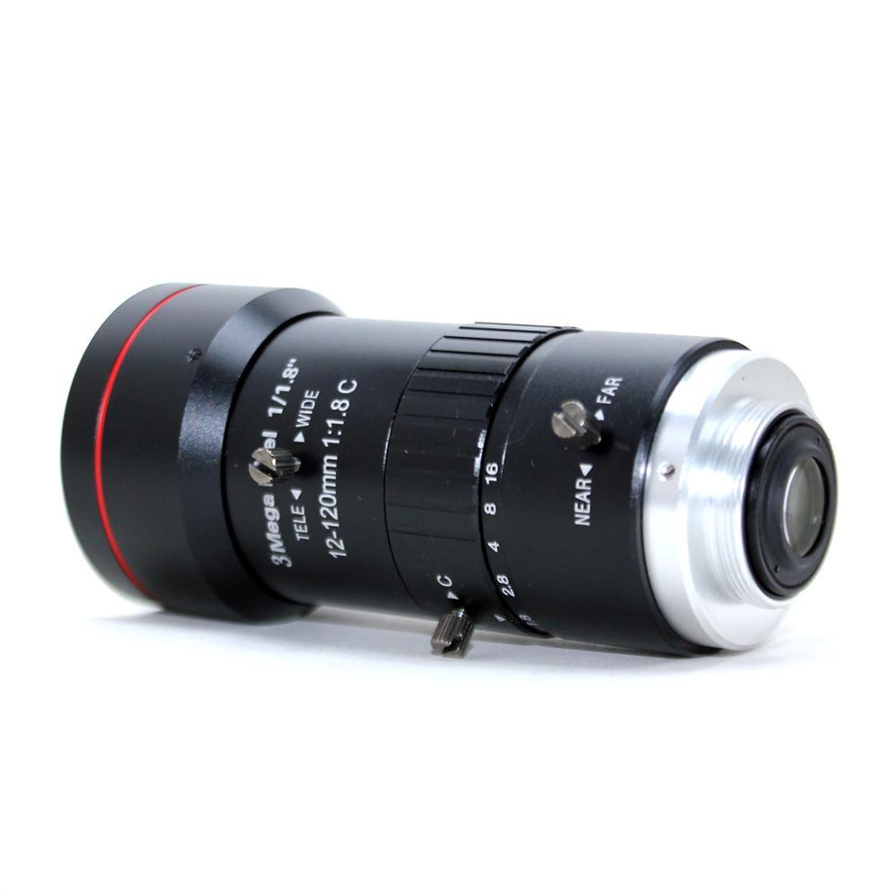 3,0 Megapixel 12 120mm HD CCTV objektiv F1.8 manuelle Iris Vario C mount objektiv Niedrigen Verzerrung FA objektiv für IP Kamera objektiv - 4