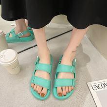 Moipheng-Sandalias De playa informales para mujer, calzado ligero clásico De microfibra con correa De hebilla, color verde