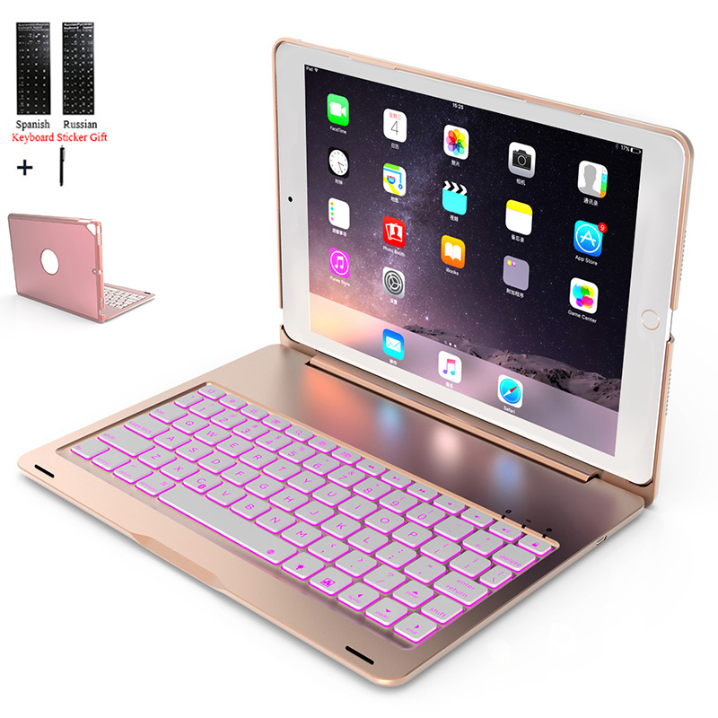 For IPad 10.2 2019 BackLight  Wireless Bluetooth Keyboard Case For IPad 10.2 Inch 2019 Tablet Aluminum Alloy Stand Cover+Stylus