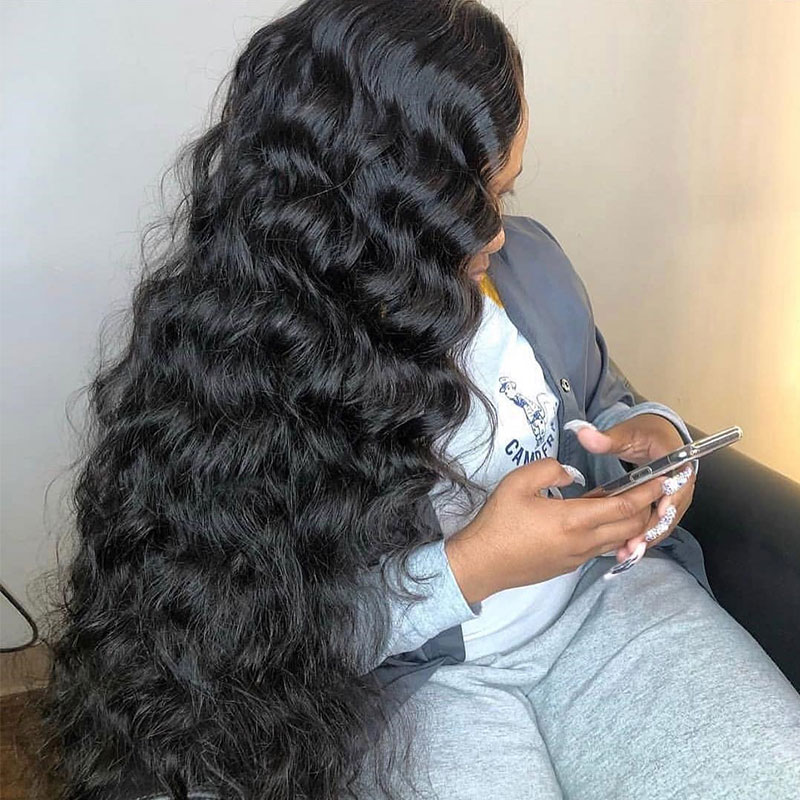 250 Density Full Lace Human Hair Wigs Pre Plucked With Baby Hair Brazilian Loose Wave Transparent Full Lace Wigs EverBeauty Remy