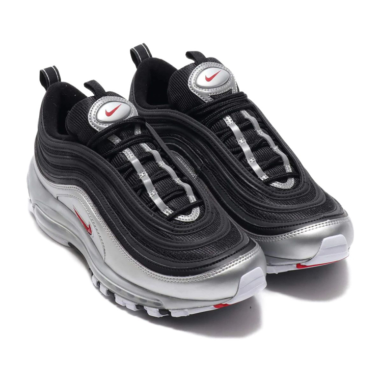 "Nike Air Max 97 QS ""Liquid Silver"" Mens Running Shoes Silver Bullet Air Cushion Sports Sneakers At5458 001 002 100"