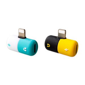 Image 5 - Connecteur Splitter Chargeur Audio Casque Adaptateur Portable 2 EN 1 Pour IPhone 6 7 8 plus X De Jack Écouteur Câble AUXILIAIRE