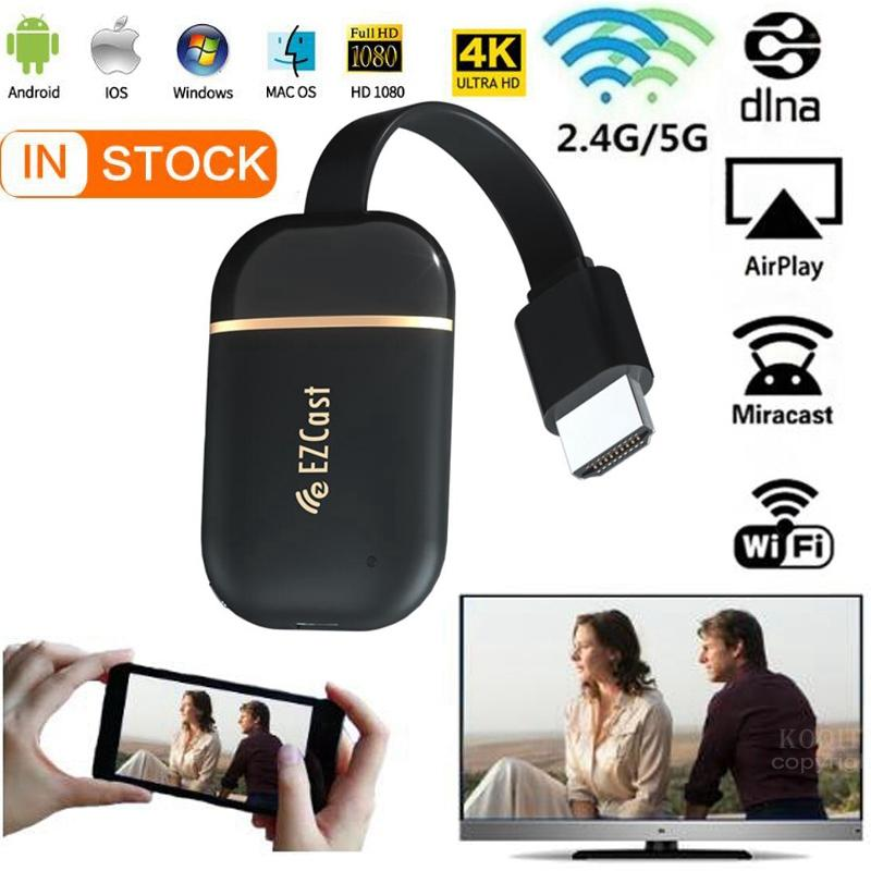 Wifi display dongle 5G 2,4G spiegel 4K 1080P wireless HDMI Miracast Android tv stick chrome /Airplay Media Streamer