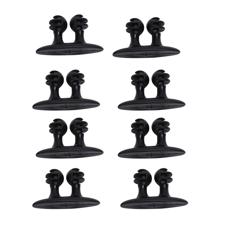 8Pcs Multifunctional Adhesive Car Charger Line Clasp Headphone Cable Clip Black