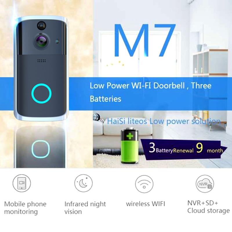 Newly Wireless Smart WiFi Doorbell IR Video Visual Camera Intercom Protect Home Safe DC128