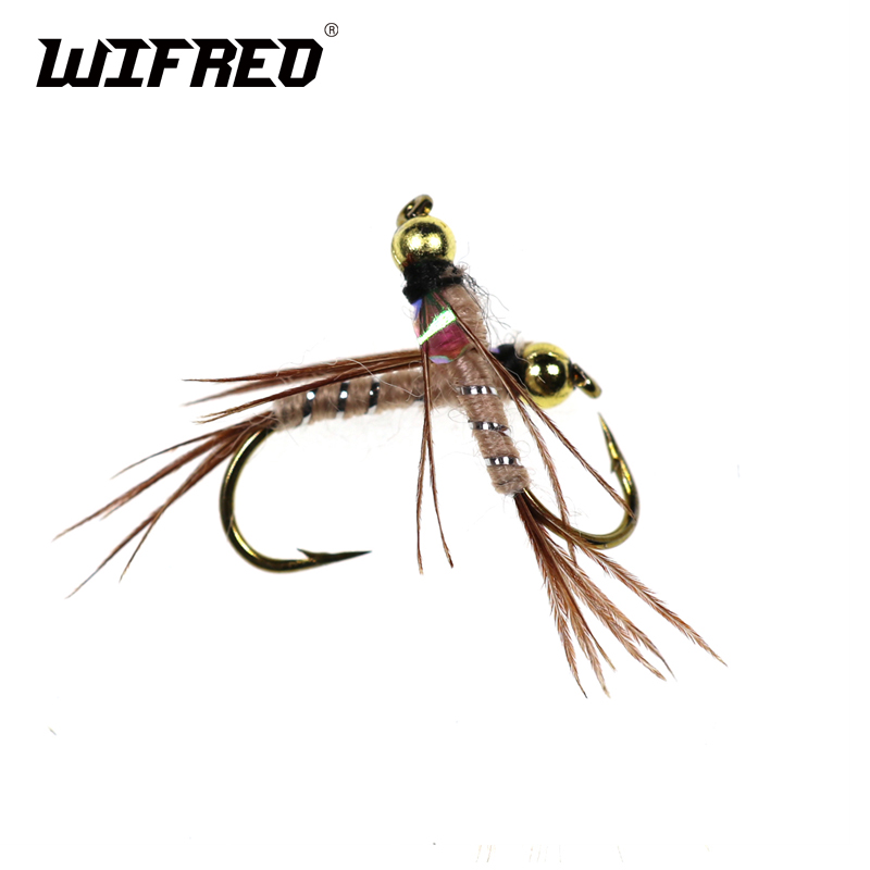 Egg Head Stonefly Nymph BROWN with Orange Bead Size 8 per 3