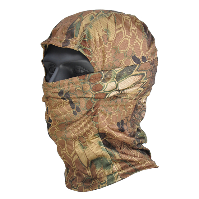 Airsoft Multicam Camouflage Tactical Paintball Wargame Military Airsoft Army Helmet Liner Protection Full Face Cap Mask for CS 4