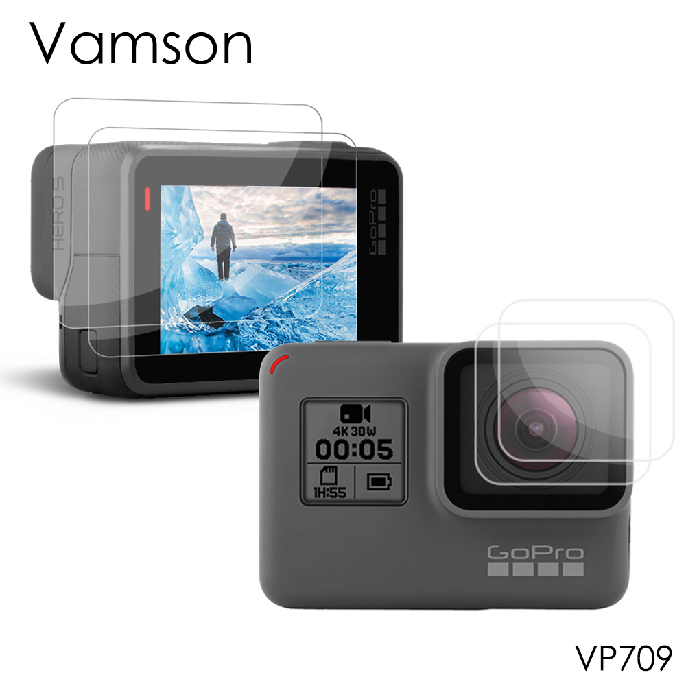 Vamson For Gopro Hero 7 Black 6 5 Accessories 3 In 1 Lens Protection Cover+LCD Screen Protector + Lens Protector VP709A