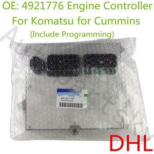 Novo genuíno para a máquina escavadora de komatsu cummins qsb6.7 módulo de controle eletrônico ecu incluem programação 4921776 600-461-1100