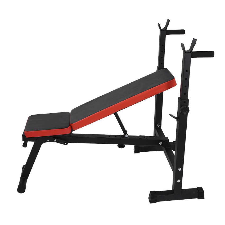 Multifunctionele Gewicht Bankje Langhalterrek Gewichtheffen Bed Vouwen Barbell Lifting Training Bench Beugel Bankdrukken Frame