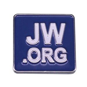 Jw.org квадратная Брошь Синий джентльмен ювелирные изделия