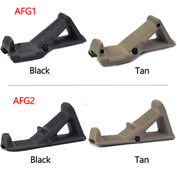 цена на ActionUnion Tactical Grips Gun AFG1/AFG2 Fore Handle Grip Hunting Triangle Foregrip Holder 20mm Guide Rail Airsoft Shooting