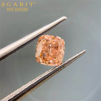 high quality genuine diamond with GIA 0.5ct VVS2 fancy brown pink natural loose diamond jewelry