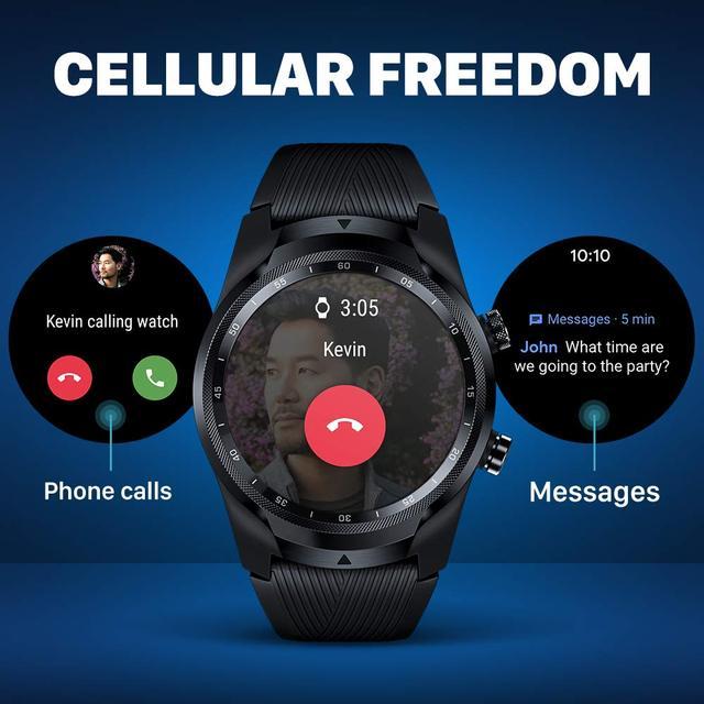 Ticwatch pro 4g/lte versão da ue 1gb ram sono rastreamento ip68 relógio à prova dnágua nfc lte para vodafone na alemanha relógio esportivo masculino 2