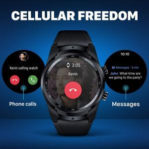Image 2 - TicWatch برو 4G/LTE الاتحاد الأوروبي نسخة ساعة ذكية 1 جيجابايت رام النوم تتبع IP68 مقاوم للماء NFC LTE ل فودافون ألمانيا الرجال ساعة رياضية