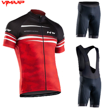 2020 New NW Pro Red Short Sleeve Cycling Jersey Cycling Men #8217 s Cycling Jersey Summer Breathable Cycling Jersey cheap SUSHAN 100 Polyester Factory Direct Sales 80 Polyester and 20 Stretch Spandex GEL Breathable Pad Full Jersey Sets Fits smaller than usual Please check this store s sizing info