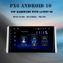 "Dasaita 10.2 ""android 10.0 rádio para toyota rav4 2018 2019 2020 dsp carro multimídia jogador carplay navegador gps 4gb + 64gb tda7850"