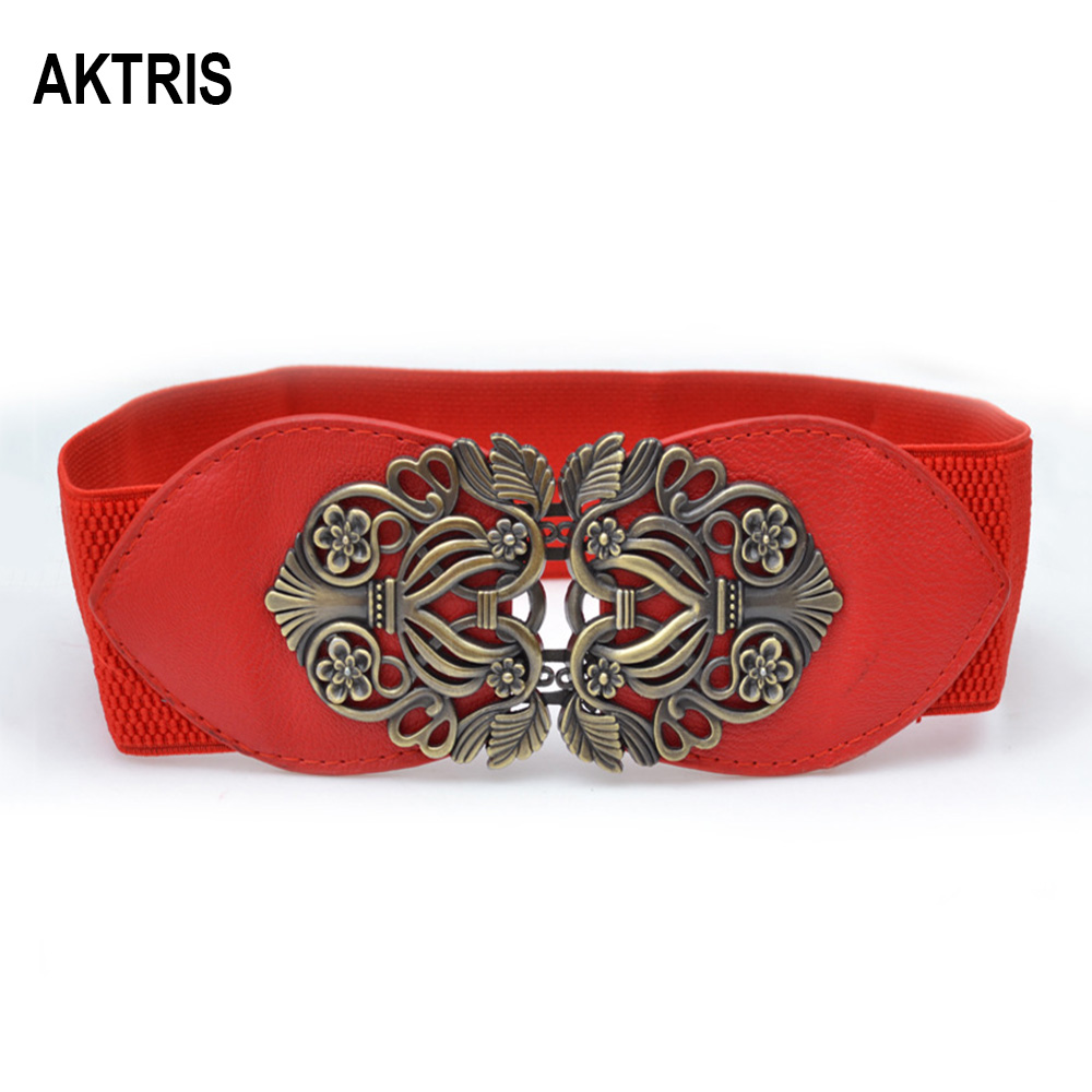 AKTRIS 2020 New Fashion Retro Elastic Waistband Waist Belts Overcoat Decorative Women's Garment Belt Cummerbunds For Woman AK004