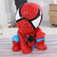 Anime brinquedos spiderman cartoon piggy mealheiro capitão américa vingadores figuras mealheiro criativo das crianças piggy coin bank presentes