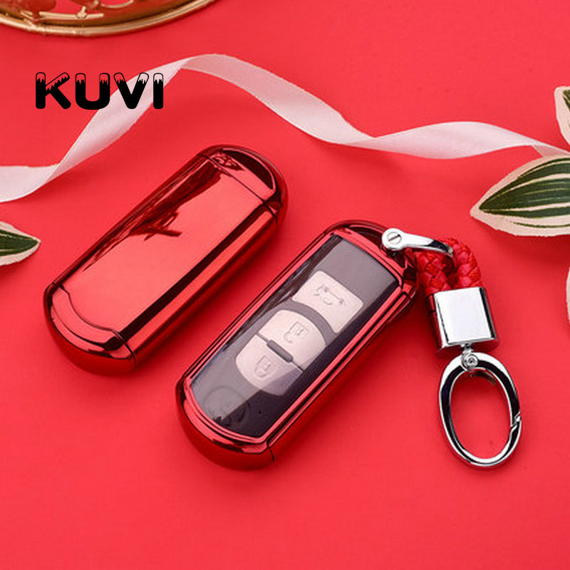 Hight quality Car Remote Key Case Cover For <font><b>Mazda</b></font> 2 3 6 Axela Atenza CX-5 <font><b>CX5</b></font> CX-7 CX-9 2015 <font><b>2016</b></font> 2017 Smart 2/3 Buttons image